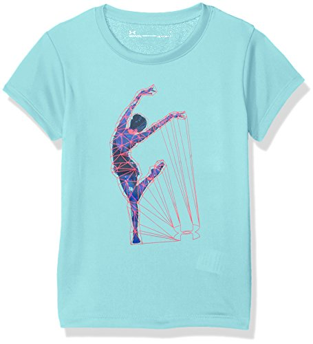 Under Armour Little Girls' Dance Short Sleeve T-Shirt, Tropical Tide, 6