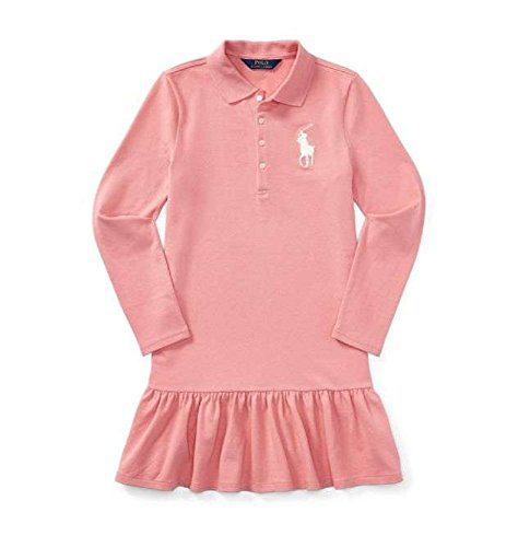 Ralph Lauren. Cotton Long-Sleeve Polo Dress (Rugby Pink, 6)