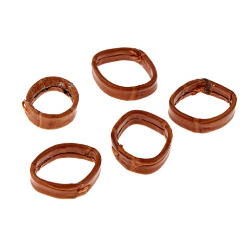 SM SunniMix 5Pcs/Lot Durable PU Leather Watch Strap Buckle Keeper Loop Holder Retainer Ring 20-24mm - 20mm Brown, as described