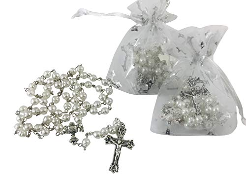 (Westman Works First Holy Communion Rosary Bulk Set of Rosaries with Gift Bags, Pack of 12 )