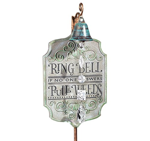 Grasslands Road 464656 Cement Garden Ring Bell Plaque Stake (4 Pack), Medium/6