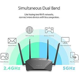 D-Link Smart AC1750 High-Power Gigabit Router with Voice Control w/Amazon Alexa or Google Assistant, Enhanced Parental…
