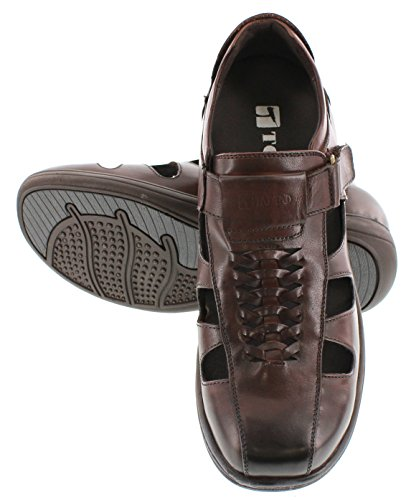 for sale online with paypal online Toto G13072-3.2 Inches Taller - Height Increasing Elevator Shoes (Dark Brown open-toe Sandals) free shipping under $60 3ya2Wy1