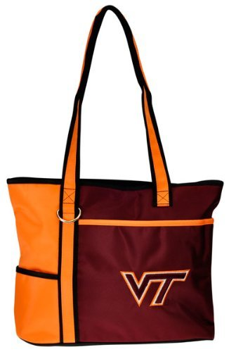 (NCAA Virginia Tech Hokies Tote Bag with Embroidered Logo)