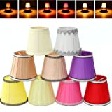 Pendant Light Accessories - Fabric Chandelier Lampshade Holder Clip On Sconce Bedroom Beside Bed Lamp Hanging Light - Chandelier Shades Lamp Small Sconce Shade LightLinen - 1PCs