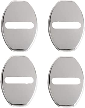 LFOTPP Seat001 Cubierta de la cerradura de la puerta del coche de acero inoxidable Protecci/ón interior Accesorios Cubierta de la cerradura de la puerta Negro