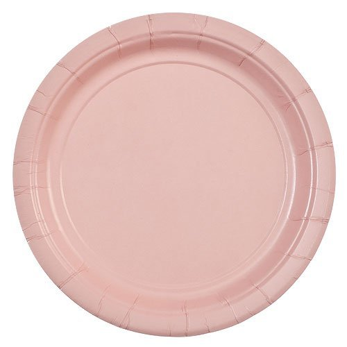 - Party Dimensions 72672 24 Count Paper Plate, 7-Inch, Pink