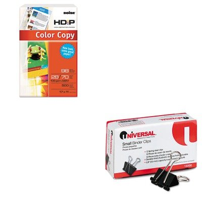 KITCASBCP2817UNV10200 - Value Kit - Boise HD:P Color Copy Paper (CASBCP2817) and Universal Small Binder Clips (UNV10200)
