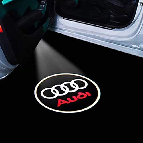 Car Door LED Lighting Logo Projector Ghost Shadow Welcome Lights For Audi A1 A3 A4L A5 A6 A6L A8 R8 TT(4-Pack) (audi-4pack)