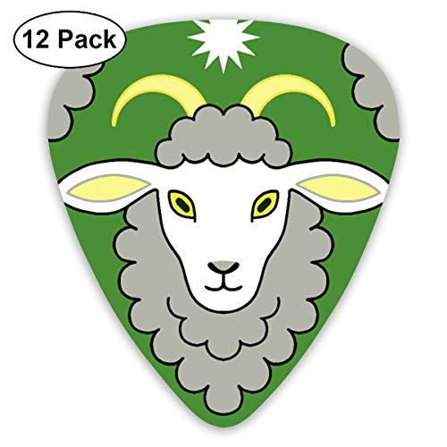 Capricorn The Star Goat Green Small Medium Large 0.46 0.73 0.96mm Mini Flex Assortment Plastic Top Classic Rock Electric Acoustic Guitar Pick Accessories Variety Pack ()