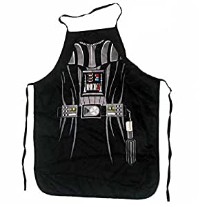 """Star Wars Darth Vader Sith (Kids/Young Adult Petite) Superhero Character Kitchen BBQ Apron with Gift Box (Size: 22"""" Width x 28"""" Length)"""