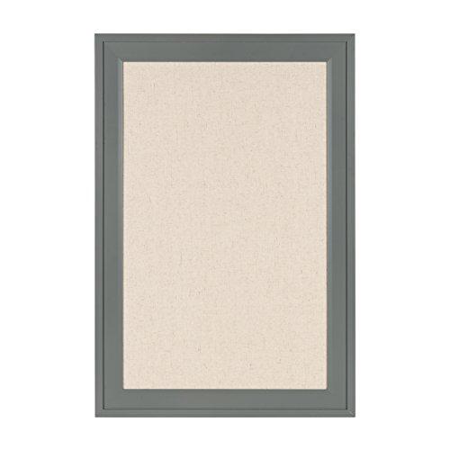 Bosc Framed Linen Fabric Pinboard Wall Organization Board (18.5x27.5, Gray)