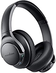 Anker Soundcore Life Q20 Hybrid Active Noise Cancelling Headphones, Wireless Over Ear Bluetooth Headphones, 40H Playtime, Hi