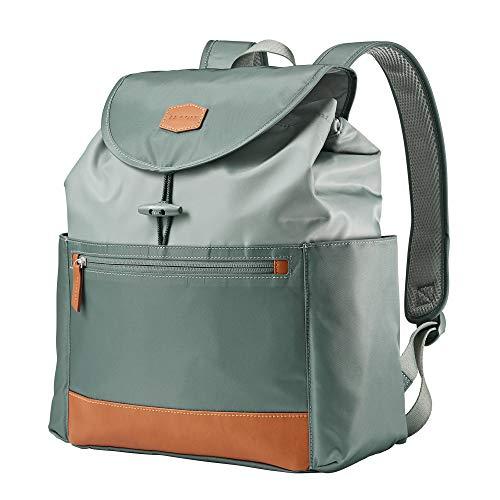 JJ Cole Mezona Cinch Top Backpack Diaper Bag Forest Green