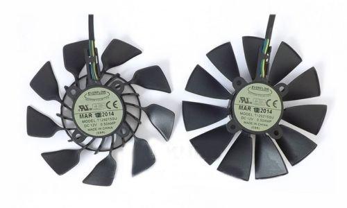 For ASUS STRIX GTX780 780TI GTX970 980 R9 280x 290X graphics card fan T129215SU (FAN-C (2 pcs))