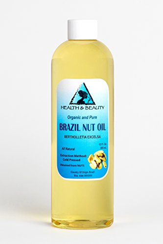Brazil Nut Oil Organic Carrier Cold Pressed Natural Fresh 100% Pure 24 oz