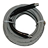 "Eagleflex II 5400 Wrapped Grey Nitrile RMA Class B Pressure Washer Hose Assembly, 3/8"" NPT Male X NPT Male Swivel with Guards, 5400 Psi Maximum Pressure, 50' Length, 3/8"" Hose ID"