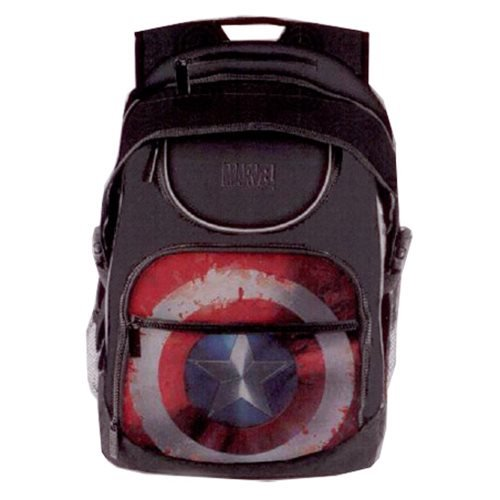 Marvel Civil War Captain America Shield Student Backpack]()