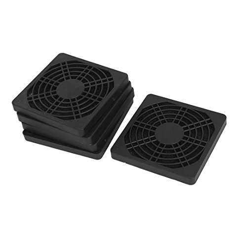 VNDEFUL 5PCS 80mm Computer Dustproof Fan Protector Dust Filter Cover Grill