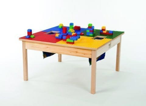 Fun Builder Heavy Duty Lego Compatible Table-Large-32 x32-MADE in The USA!! Preassembled with Solid Hardwood Legs and Side Frames-Ages 5 and UP (Fun Builder Table)