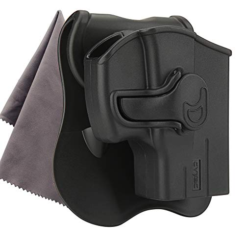 (Taurus PT111 G2 Holster Taurus G2C Holsters, Also Fit Taurus Millennium PT132 PT138 PT145 PT745, 360 Degree Adjustable Paddle Tactical Pistol Holsters,- Include Microfiber Cloth - RightHand)