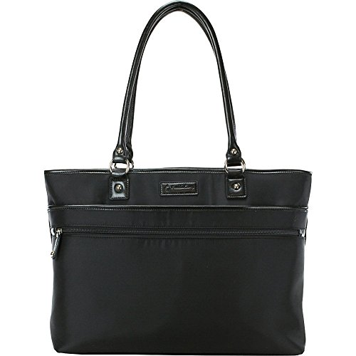 Franklin Covey Top Zip Laptop Tote (Black)