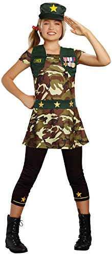 SugarSugar Girls Cadet Cutie Costume, One Color, Large, One Color, Large