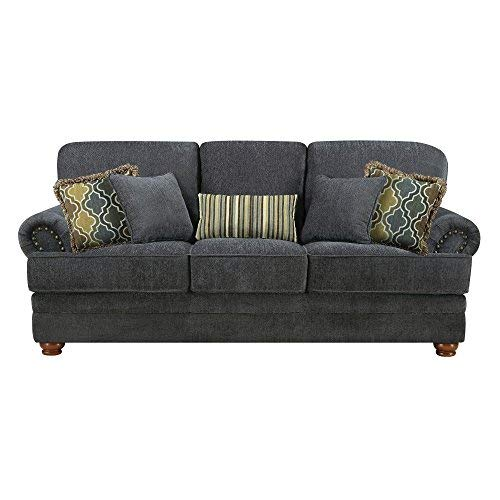 Coaster Home Furnishings Colton Loveseat with Rolled Arms Smokey Grey