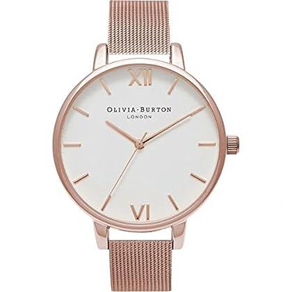 9f803984f174 La Olivia Burton ob15bd79 es una Trendy y reloj de mujer analógico. el  pulsera es de piel en el color de moda rosa. la reloj de pulsera para mujer  tiene un ...