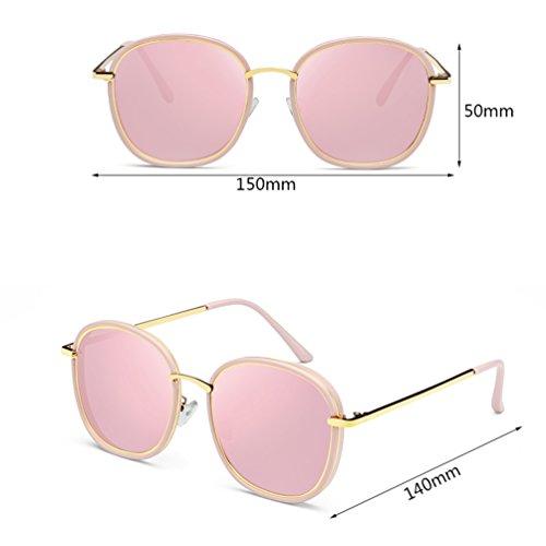 Gafas ZQ de Harajuku Protection Retro Gafas de UV Color de Red Rojo Espejo Mujer Color Style Sol solar Stars Gafas 2018 de Sol Rosa Nuevas de pS1w78qY