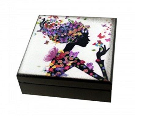 Kole Imports OF549 Whimsical Girl Wooden Trinket Box, assorted models