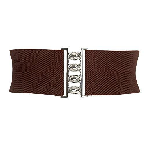 Coffee Grace (Grace Karin Plus Size Stretchy Waist Belts Coffee XL CL8961)