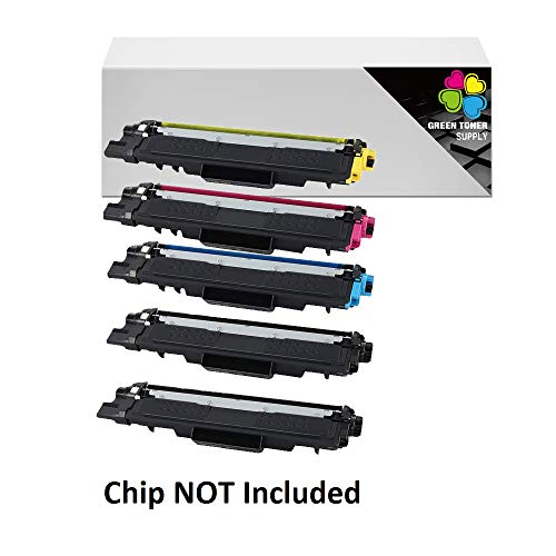 GTS Compatible TN223 / TN227 Toner Cartridge [NO CHIP] High Yield for Brother All-in-one Printer HL-L3210CW HL-L3230CDW HL-L3270CDW HL-L3290CDW MFC-L3710CW MFC-L3750CDW MFC-L3770CDW (5-Pack)