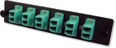Lynn Electronics 12 Fiber LC 10GIG Multimode Adapter Strip, 6 Duplex LC 10GIG Ports, LGX Footprint