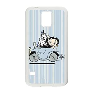 Betty Boop Taking A Drive Samsung Galaxy S5 Cell Phone Case White phone component RT_298917