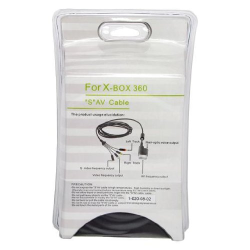XBox 360 Compatible 8 Feet S-Video AV Cable