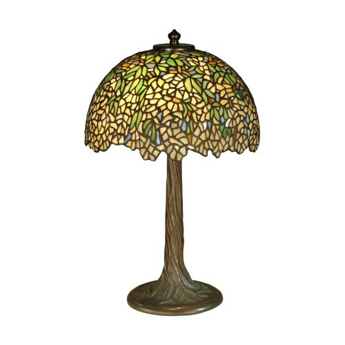 Dale Tiffany TT10335 Wisteria Tiffany Table Lamp, Antique Bronze and Verde by Dale Tiffany Lamps B0088MLMGS
