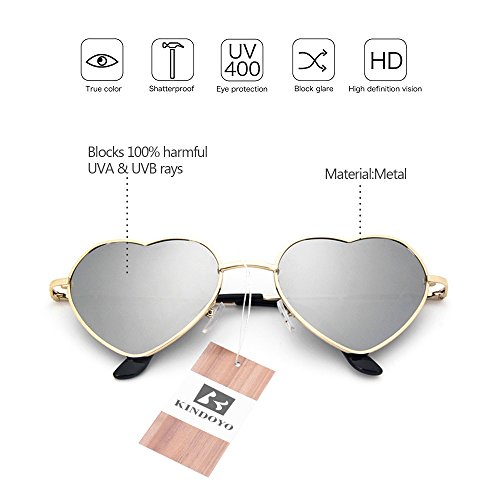 Sunglasses Uv400 Gold Metal Cute lens white frame Frame Shape ...