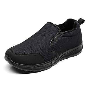 Qiusa Slip para Hombre en Mocasines Antideslizantes Zapatos Deportivos Transpirables Ocasionales de Suela Blanda (Color : Negro, tamaño : EU 40): Amazon.es: ...