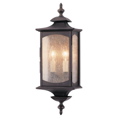 19' Outdoor Wall Lantern (Murray Feiss OL2601ORB, Market Square Outdoor Wall Pocket Sconce Lighting, 120 Total Watts, Bronze)