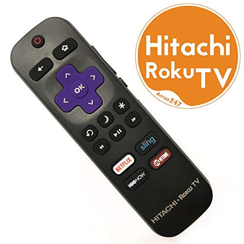 - Original Hitachi Roku TV Remote w/Volume Control & TV Power Button for All Hitachi Roku TV (Roku Built-in TV, NOT Roku Player Connect w/TV)
