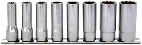 コーケン 3/8(9.5mm)SQ. 12角ディープソケットレールセット 8ヶ組 RS3305M/8
