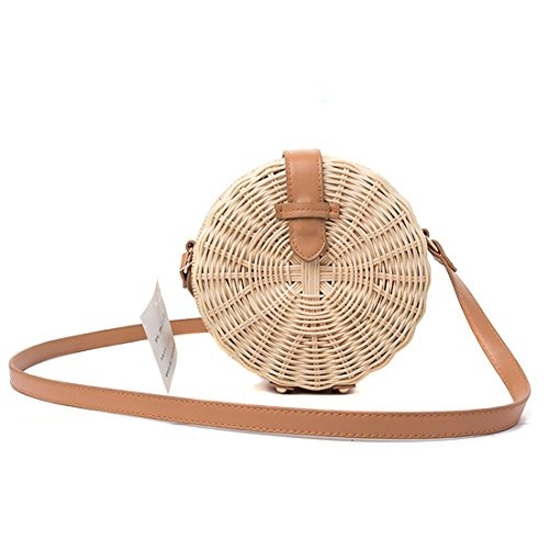 Bag Rattan Circle Shoulder Straw Summer Llfs Ata Handbag Sea And Round Crossbody Beach Purse nTTYWSzacq