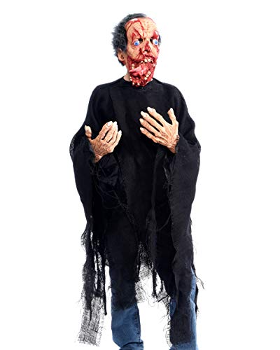 Zagone Studios Bite Your Tongue Zombie Costume Kit with Mask, Gloves and Rotting Shirt -
