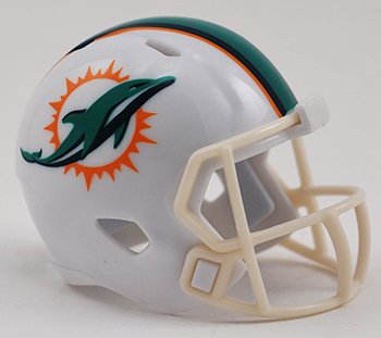 Dolphins Miami Official Mini (MIAMI DOLPHINS NFL Riddell Speed MICRO / POCKET-SIZE / MINI Football Helmet)