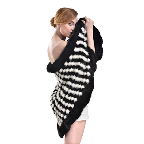 Bellefur - Poncho - para mujer black&grey