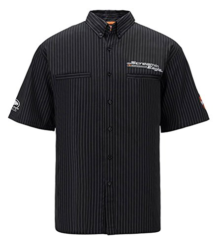 Harley-Davidson Mens Screamin' Eagle Frontrunner Embroider Crew HARLMW0059 (L) Black