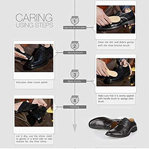 LHKJ Kit d'entretien de la Chaussure, Kit d'entretien de Cuir Portable. Kit de Voyage pour Boîte de Cylindre en Cuir… 4