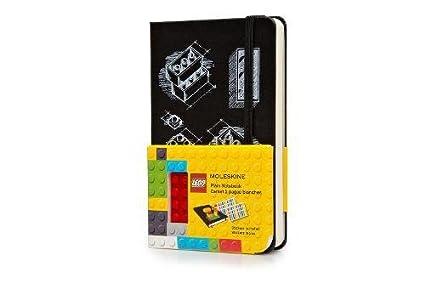 Moleskine Lego Limited Edition II - Cuaderno liso (incluye etiquetas adhesivas), negro