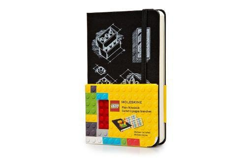Moleskine Limited Edition Lego Notebook, Hard Cover, Pocket (3.5' x 5.5') Plain/Blank, Black
